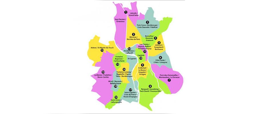 Quartiers de Toulouse